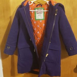 Mini Boden wool toggle coat